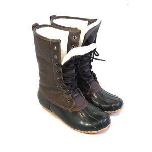 SPORTO Original Duck Boots Brown & Black Size 8